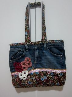Bolsa calça jeans, Constantina Atelier.