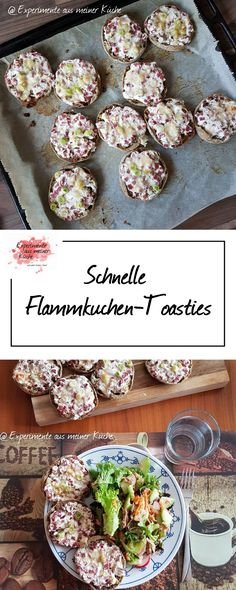 Experimente aus meiner Küche: Schnelle Flammkuchen-Toasties