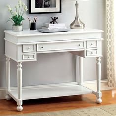 Furniture of America, Lexden Secretary Desk- CM-DK6223WH in $343