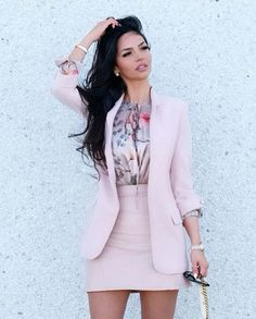 Business meeting then lunch with friends! Office Attire, Work Attire, Office Outfits, Blazer Outfits, Blazer Dress, Skirt Outfits, Business Outfits, Business Attire, Office Fashion