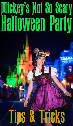 This post offers our guide to 2017 Mickey's Not So Scary Halloween Parties at Walt Disney World, tips for making the most of the party nights, which occur Disneyland Halloween Party, Disney World Halloween, Creepy Halloween Party, Halloween Party Costumes, Halloween 2020, Halloween Tips, Halloween Adventure, Disneyland Trip, Halloween Quotes