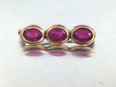 25% OFF SALE,Antique Victorian Dark Pink Tourmaline Brooch  Rolled Gold Brooch Victorian Pink Brooch