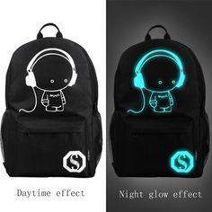 ac9acdcbbf Cool unisex anime outdoor luminous backpack. Amazon.co.uk Travel Bags