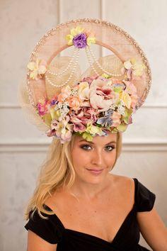 A personal favorite from my Etsy shop https://www.etsy.com/hk-en/listing/196912322/flower-wedding-party-racing-fascinator