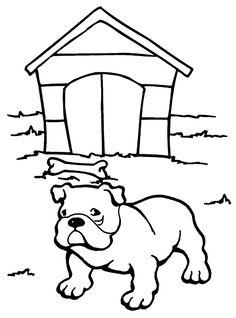 Dibujo para colorear de perros (nº 3)