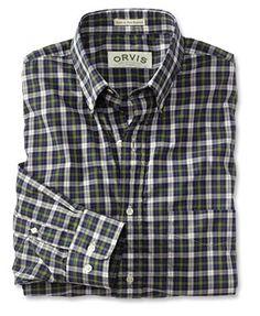 Orvis washed tartan shirt.