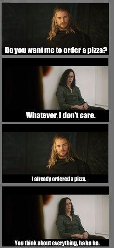 "Loki as Tommy Wiseau in ""The Room."""
