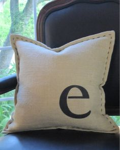 Need monogram pillow for outside front porch bench