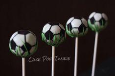 Soccer Ball Cake Pops #themedcakes