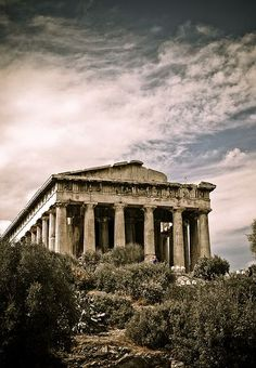 The Temple of Hephaestus and Athena Ergane, also known as the Hephaisteion or Theseion, is the best preserved ancient Greek temple. It is a Doric order peripteral temple, located at the north-west side of the Agora of Athens. Ancient Ruins, Ancient Rome, Ancient Greece, Ancient History, Mayan Ruins, Greece Architecture, Ancient Greek Architecture, Sacred Architecture, Ancient Greek Buildings