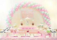 Dessert Table Balloon Arch.