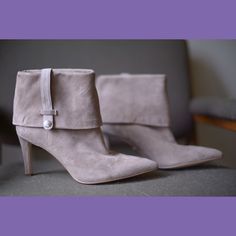 Calvin Klein Bethany Suede Convertible Booties LIKE NEW Calvin Klein Bethany Suede Convertible Booties in seriously amazing condition. Only slight wear on soles from trying-on I would guess. All photos are mine so please don't use them! No Trades!  ❗️ But feel free to make an offer, I am willing to negotiate  ❗️ Calvin Klein Shoes Ankle Boots & Booties