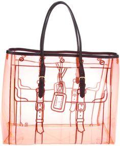 ROBERTA DI CAMERINO Pink Printed Tote Bag
