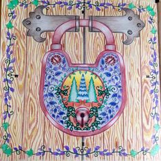 Lock Enchanted Forest Johanna Basford Adult ColoringColoring BooksJohanna