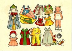 MUNDO DE PAPEL * 1500 free paper dolls for other Pinterest paper doll pals at Arielle Gabriel's The International Paper Doll Society *