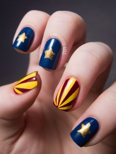 31DC2012: Day 28, Inspired by a Flag | Chalkboard Nails | Nail Art Blog