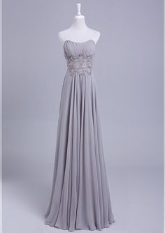 Grey Bridesmaid Dress Long Convertible Chiffon Bridesmaid Dress Silver prom dress, evening dress   Strapless chiffon bridesmaid on Etsy, $109.77 AUD