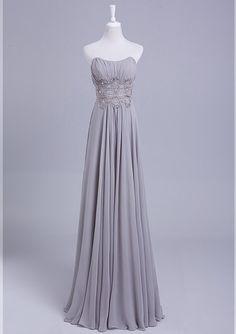 Grey Bridesmaid Dress Long Convertible Chiffon Bridesmaid Dress Silver prom dress, evening dress   Strapless chiffon bridesmaid on Etsy, $109.77 AUD