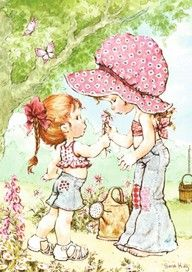 Holly hobbie and Sarah kay