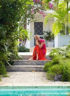 Model, Designer India Hicks' Home in the Bahamas | Traditional Home - I love the tropical, easy, laid-back look.