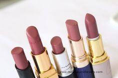 1. Bobbi Brown Creamy Lip Color Rose Brown 28  2. Chanel Rouge Coco Lipstick Mademoiselle - love!  3. MAC Cosmo Lipstick - love!  4. Estee lauder Stay on Lip Color Stay Ginger - pretty  5. Lotus pure color Lipstick Pink Blush