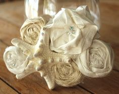 Beach Wedding Starfish Silk Flower Brooch