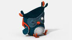 Coruja 3D by Rodolfo Pedriali, via Behance