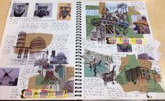 New a level art sketchbook inspiration sketch books 20 ideas Textiles Sketchbook, Gcse Art Sketchbook, Architecture Sketchbook, Art And Architecture, Fashion Sketchbook, Architecture Portfolio, A Level Art Sketchbook Layout, Art Alevel, Sketchbook Inspiration
