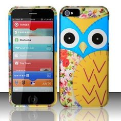 Blue Yellow Owl Hard Case Snap On Cover For Apple iPhone 5 by BJ, http://www.amazon.com/dp/B009KQ585C/ref=cm_sw_r_pi_dp_gVpssb0W00EEB