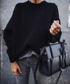 Street Style trends : streetstyleplatform:Black Simple Sweater    streetstyleplatform:   Black Simple Sweater    - #StreetStyle https://youfashion.net/trends/street-style/street-style-streetstyleplatformblack-simple-sweater/