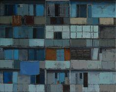 Georgië by Gineke Zikken Houses, Paintings, City, Abstract Art, Pintura, Kunst, Homes, Paint, Painting Art