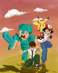 ben10-pokemon-minecraft by SandOfSadness.deviantart.com on @DeviantArt