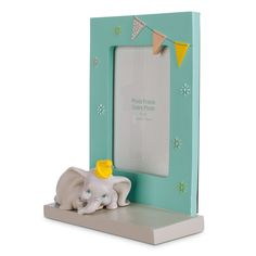 "Display a trunkful of memories in Dumbo's fully sculptured 4"" x 6"" photo frame, part of our Dumbo Nursery Collection, each item sold separately."