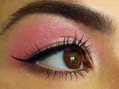 pink shadow & sharp liner for asian / hooded eyes
