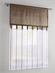Fenster - Dekoration  Idee für zweiteiliges Rollo (dunkle Seite oben einrollen, helle Seite unten einrollen)