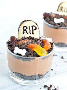 Halloween Graveyard Mousse Cups