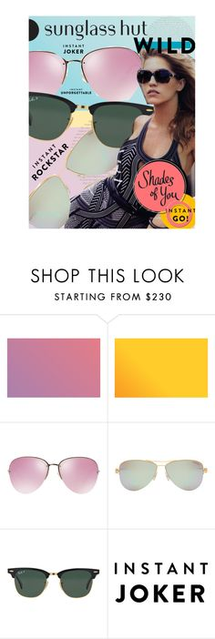 """""""Shades of You: Sunglass Hut Contest Entry"""" by victoria-bella-donna ❤ liked on Polyvore featuring Miu Miu, Tiffany & Co., Ray-Ban, fashionset and shadesofyou"""