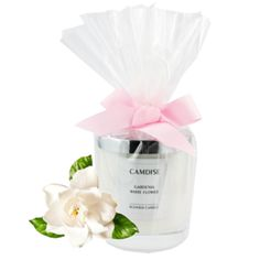 Gardenia and White Flower Luxury Soy Scented Candle