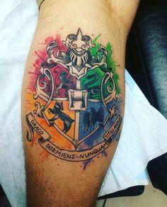 Hogwarts Crest by Beata at Waukesha Tattoo Company Waukesha WI #Tattoos https://t.co/1VKml4lCUa Please Re-Pin It!