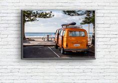 4€ Poster Orange Van/California/Beach/Sun/Sky/Travel/Trip/VW/Bus/Ocean/Sea/Palmtree/Oceanside/Wall Art/Printing/Boho Art As You Like, Just In Case, Orange Vans, Vans California, Frame Download, International Paper Sizes, Travel Trip, Vw Bus, Beach Trip