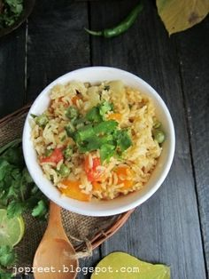 Vegetable Pulao- Indian Food