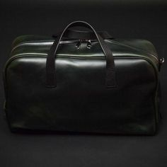 MOSS GREEN LAULOM LARGE LEATHER SAN DIEGO DUFFEL - THE LODGE  - 1