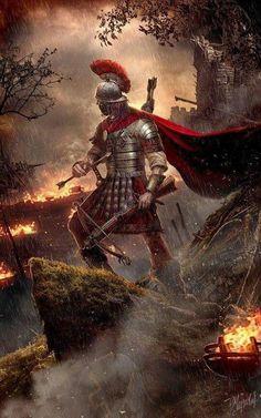 For the glory of Rome by DusanMarkovic on DeviantArt Greek Warrior, Fantasy Warrior, Fantasy Art, Ancient Rome, Ancient History, European History, Ancient Aliens, Ancient Greece, American History