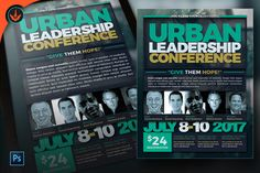 Urban Leadership Conference Flyer Photoshop by SeraphimCollective