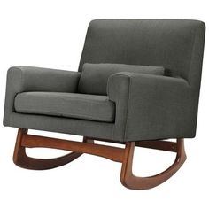 nursery works sleepytime rocker pebble weave fabric with walnut legs target - Gliding Rocking Chair