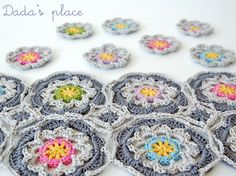 Crochet mosaic - Dadas place