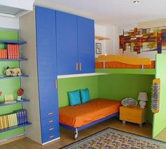 7 Smart Solutions for Small Children Room Layout @TheDailyBasics ♥♥♥