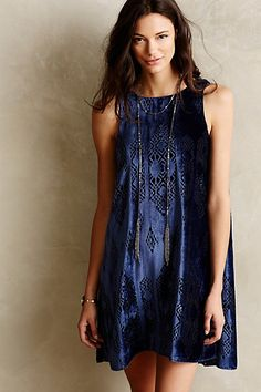 Cerulean Velvet Dress - anthropologie.com Game of thrones wedding? This would be so amazing. But really.