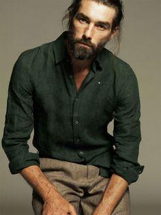 <3 ArtList - Nico . - Adolfo Dominguez SS 2014 - Patrick Petitjean. Great expression, great body frame.