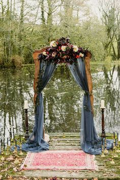Our beautiful rustic arch on the lake for a wedding ceremony - . Our beautiful rustic arch on the lake for a wedding ceremony - . Always wanted . Romantic Wedding Centerpieces, Rustic Wedding Backdrops, Wedding Ceremony Backdrop, Fall Wedding Arches, Lake Wedding Decorations, Lake Wedding Ideas, Wedding Ceremonies, Wedding Reception, Wedding Aisles